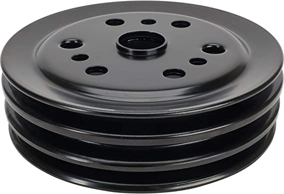 Ecklers Premier Quality Products 57133394 Chevy Water Pump Pulley Single Groove Chrome Small Block