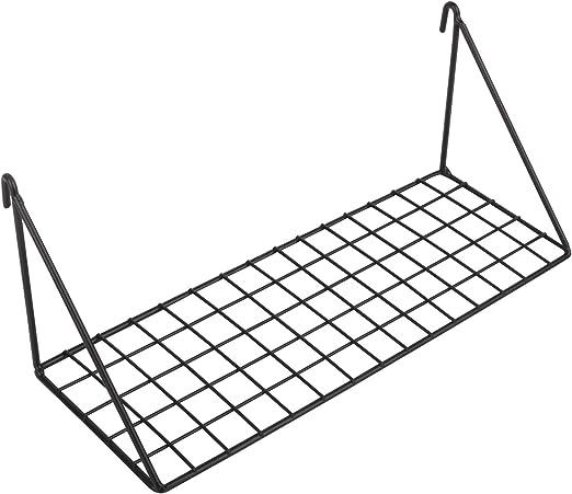 Rumcent Durable Straight Flat Shlef for Grid Panel Display Wire Metal Mesh Hanging Basket Storage Organizer Rack,Balcony Plant Holder//Shelf Flower Pots Holder Rose Gold