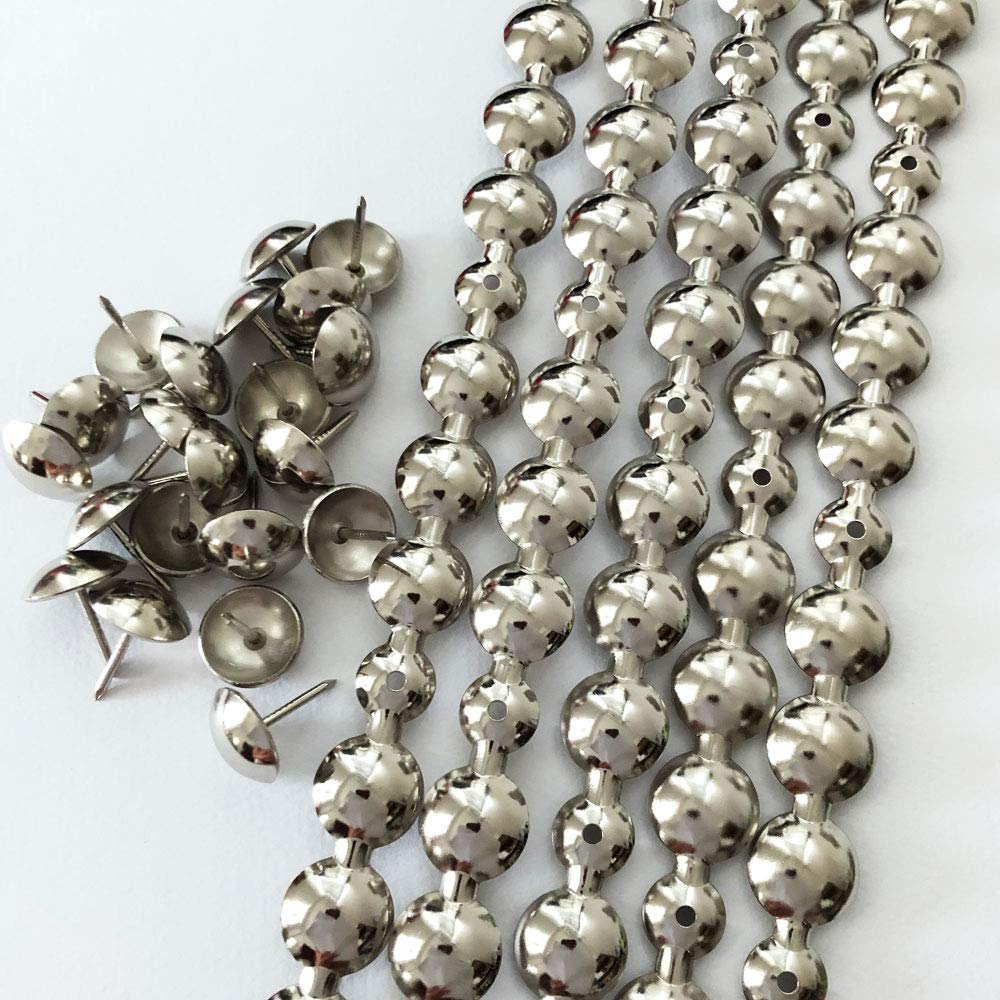 10 Meters: 16mm Nickel Plated Decorative Nail Strips/Nailing Tapes,Sofa Tacks,Upholstery Tacks,DIY Furniture Accessory (M:16mm Nickel) by Let's Decorate!