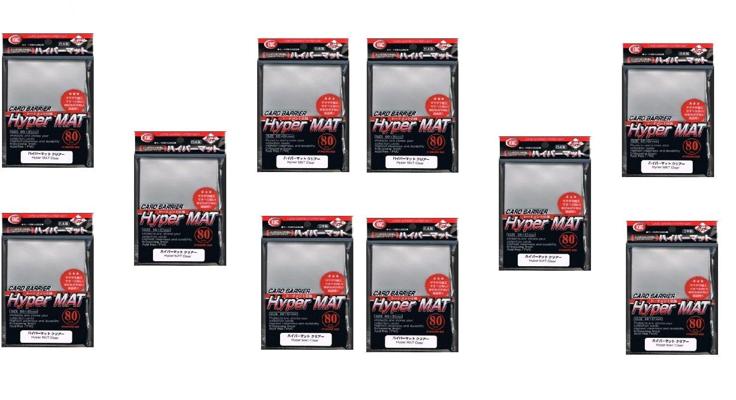 KMC Hyper Matte Sleeves Clear ×10 Sets (10 Packs/total 800 Sheets) ( Japan Import )