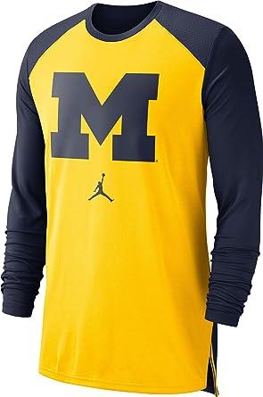 Michigan Jordan Gear >> Jordan Men S Michigan Wolverines Maize Blue Breathe Long