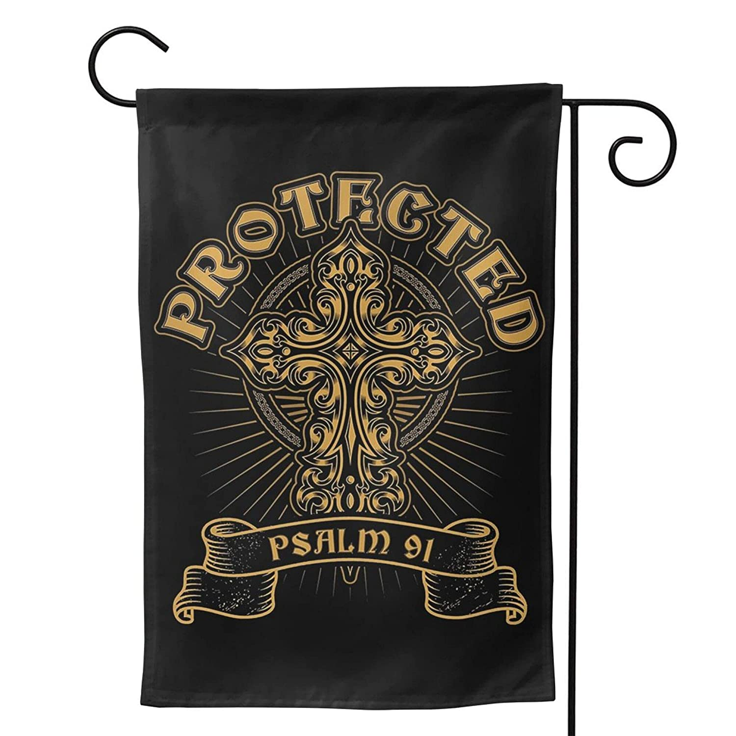 Protected Psalm 91 Soldiers Prayer Christian Garden Flag 28