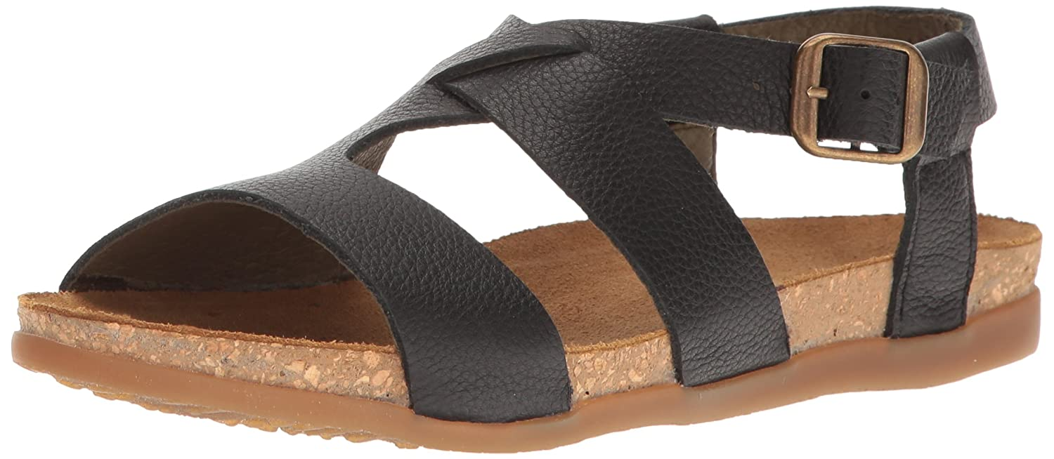 El Naturalista Women's Nf46 Soft Grain Black/Zumaia Flat Sandal B01LZNH69H 42 Medium EU (11 US)|Black