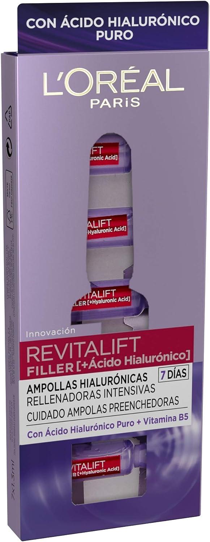 L´Oréal Paris Dermo Expertise - Revitalift Filler ampollas hialurónicas rellenadoras intensivas, con ácido hialurónico - 7 ampollas