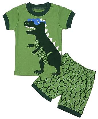 BOOPH Boy Pajamas Dinosaur Little Kids Pjs Sets 100% Cotton Toddler  Sleepwears 8dfe529ad