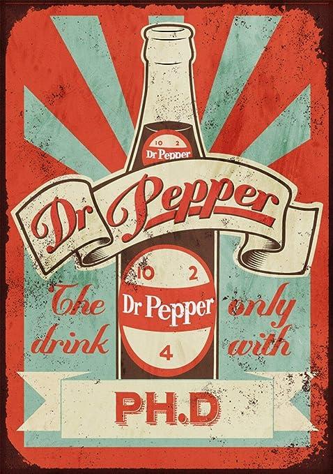 Dr Pepper Póster de Pared Aluminio Metal Creativo Placa ...