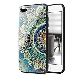 iPhone 7 Plus Case, iPhone 8 Plus Case Luxury Protective Smooth Painting Tempered Glass Cover Soft Anti-Skid TPU Bumper Frame PC Back Shell Skin iPhone 8 Plus/iPhone 7 Plus Badalink - Totem