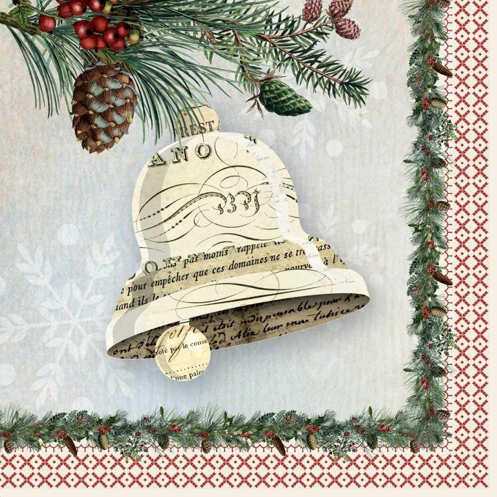 Paperproducts Design Design Papier Winter Lodge Bell Servietten, 16,5 cm Multicolor