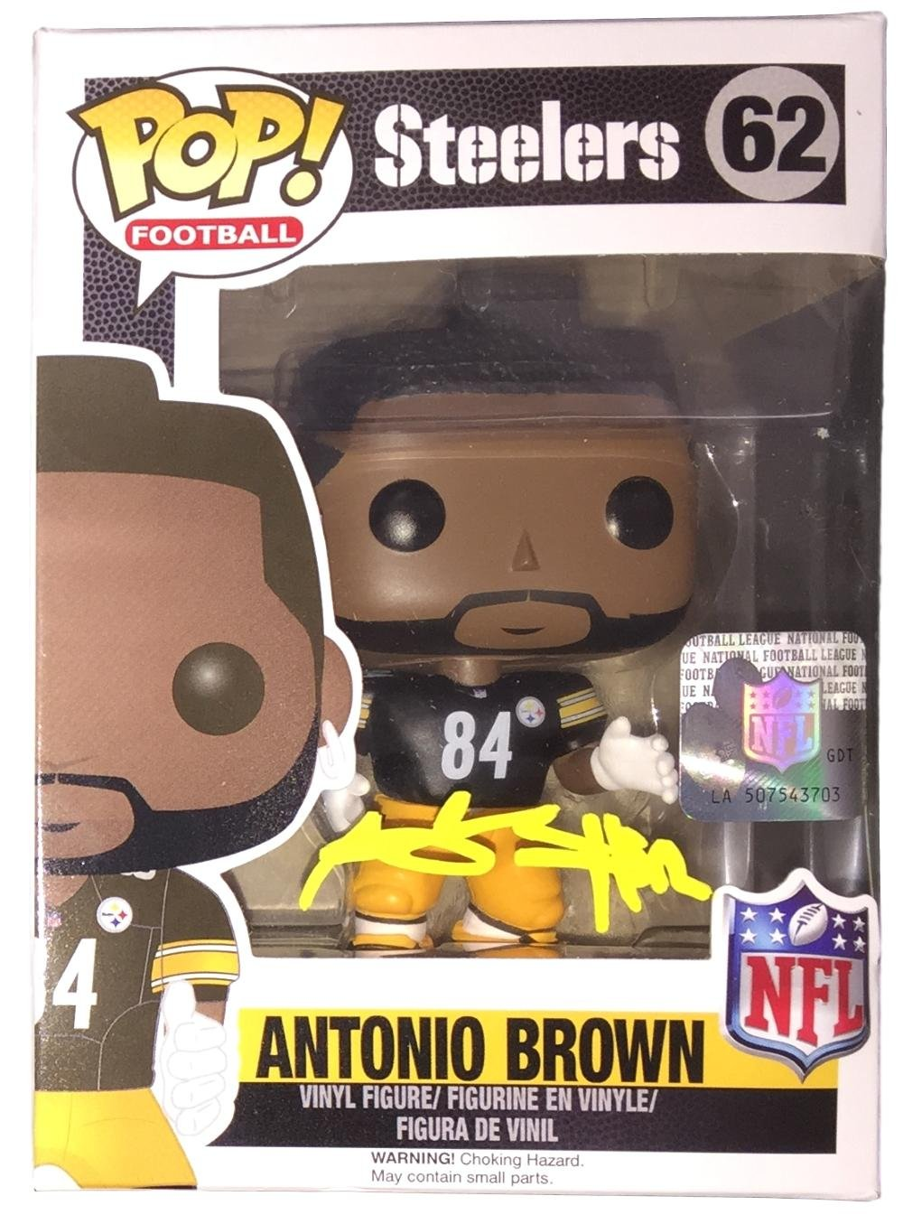 Antonio Brown Signed Pittsburgh Steelers Pop Funko Figure JSA