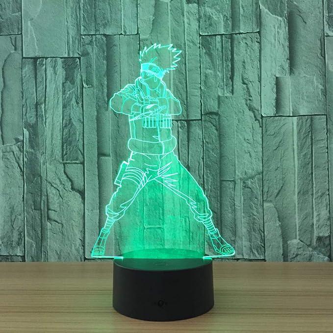 wangZJ Luz de noche 3D / Lámparas de escritorio de mesa táctiles ...
