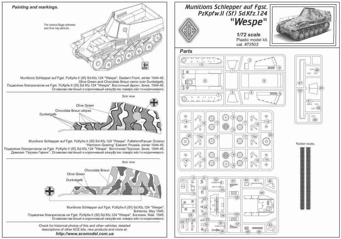 Ace 1//72 Munitions Schlepper auf Wespe # 72502