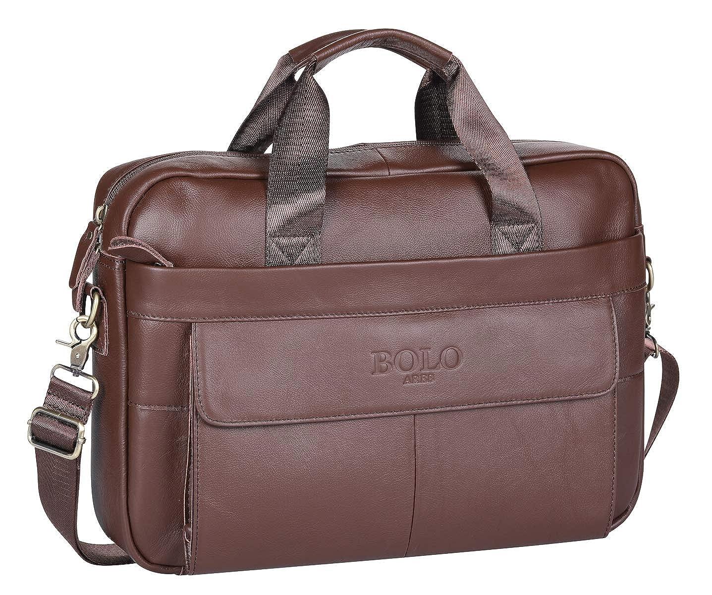 BOLO 13 14 pollici Cartella per laptop fatto a mano Pelle ventiquattrore Spalla aziendale Borsa da lavoro