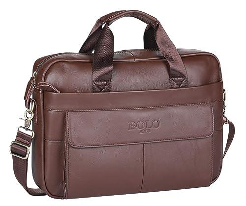BOLO 13 14 pollici Cartella per laptop fatto a mano Pelle ventiquattrore  Spalla aziendale Borsa da 05c8a19f9ce