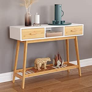 Home Kitchen Awarded Wood Very Narrow Console Table For Hallway In Many Colors As Cream Thin Contemporary Design Behind Sofa Tables Living Room Entryway Foyer Bedroom Radiator Cover 80cm Wide 20cm