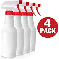 SoLID (TM) Spray Bottle (4 Pack,16 Oz), Commercial Grade/Industrial/Household Use, No Leak and Clog, Adjustable Nozzle, Bleach/Vinegar/BBQ/Rubbing Alcohol Safe, Squirt Spritzer Bottle