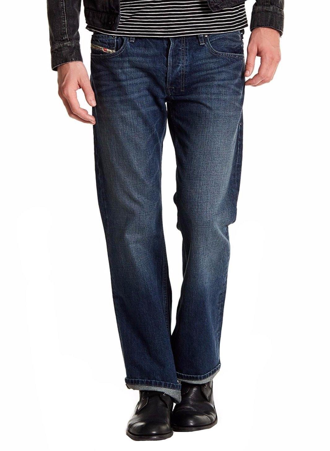 Diesel Mens Zatiny Regular Fit Bootcut Denim Jeans - Made in USA (38W x 30L, Blue 0RZ65)