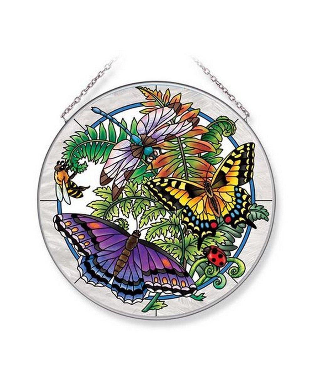 Amia Botanical Butterfly Glass Suncatcher 6-1/2'' Multicolor
