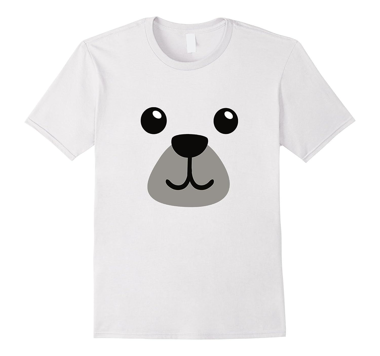 Teddy Polar Bear Face Costume Tee Shirt - Easy Kid Costumes-TJ