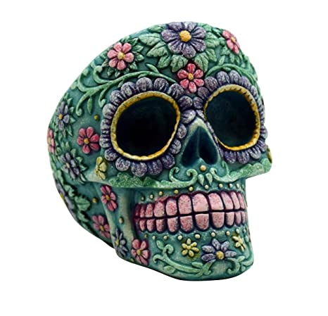 Amazon.com: Aqua Rosa Day of the dead Sugar Skull Tall ...