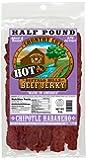 Buffalo Bills 8oz Chipotle Habanero Country Cut Beef Jerky Pack (moist & tender hot beef jerky) 8Oz