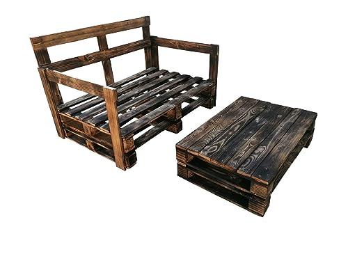 1 X Sofa De Palets 1 X Mesa De Pallets Muebles Con Pallets Para Terraza Jardin Patio Balcon Para Exterior Interior Amazon Es Handmade