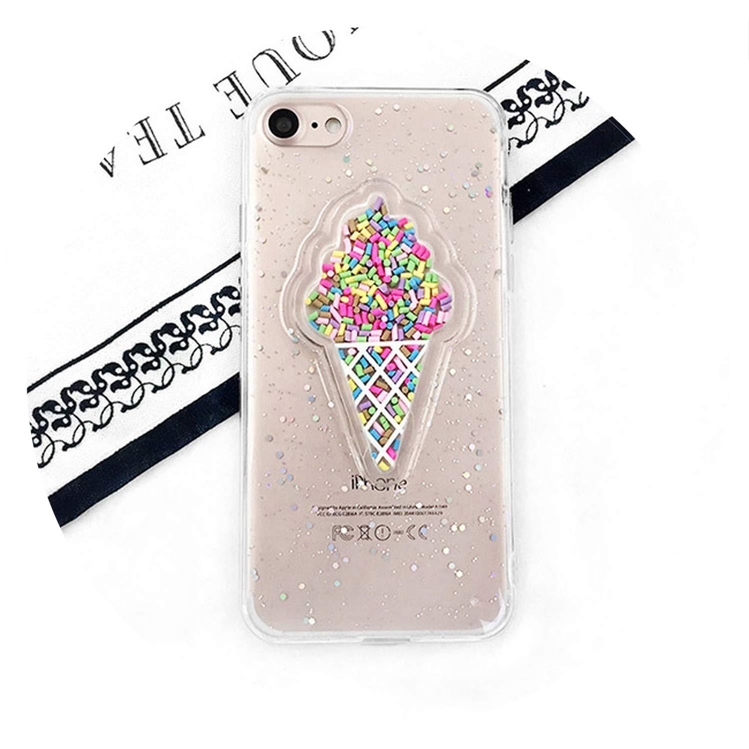 Glitter 3D Ice Cream Phone Case For