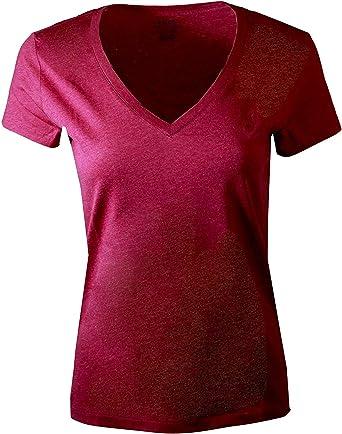 Polo Ralph Lauren - Camiseta con cuello en V para mujer - - Large ...