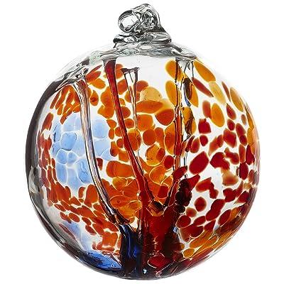 Kitras Art Glass Decorative Spirit Ball, 6-Inch, Orange : Outdoor Decor : Garden & Outdoor