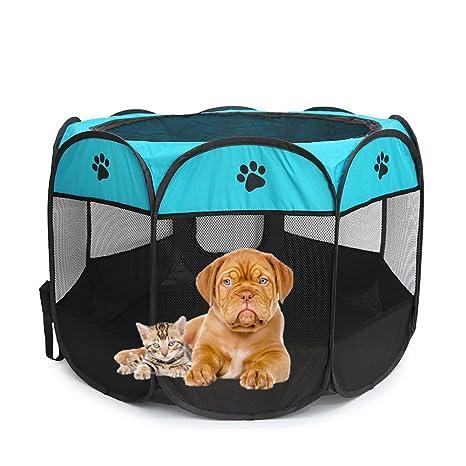 Caseta para perros de entrenamiento para interior, también para uso exterior o para gato.