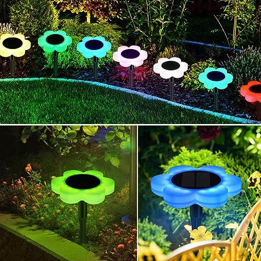 GYBYB luces solares para jardín, luz solar para caminos, exteriores, resistente al agua, cambia de color para el hogar, patio, entrada, césped, carretera #CL30: Amazon.es: Iluminación