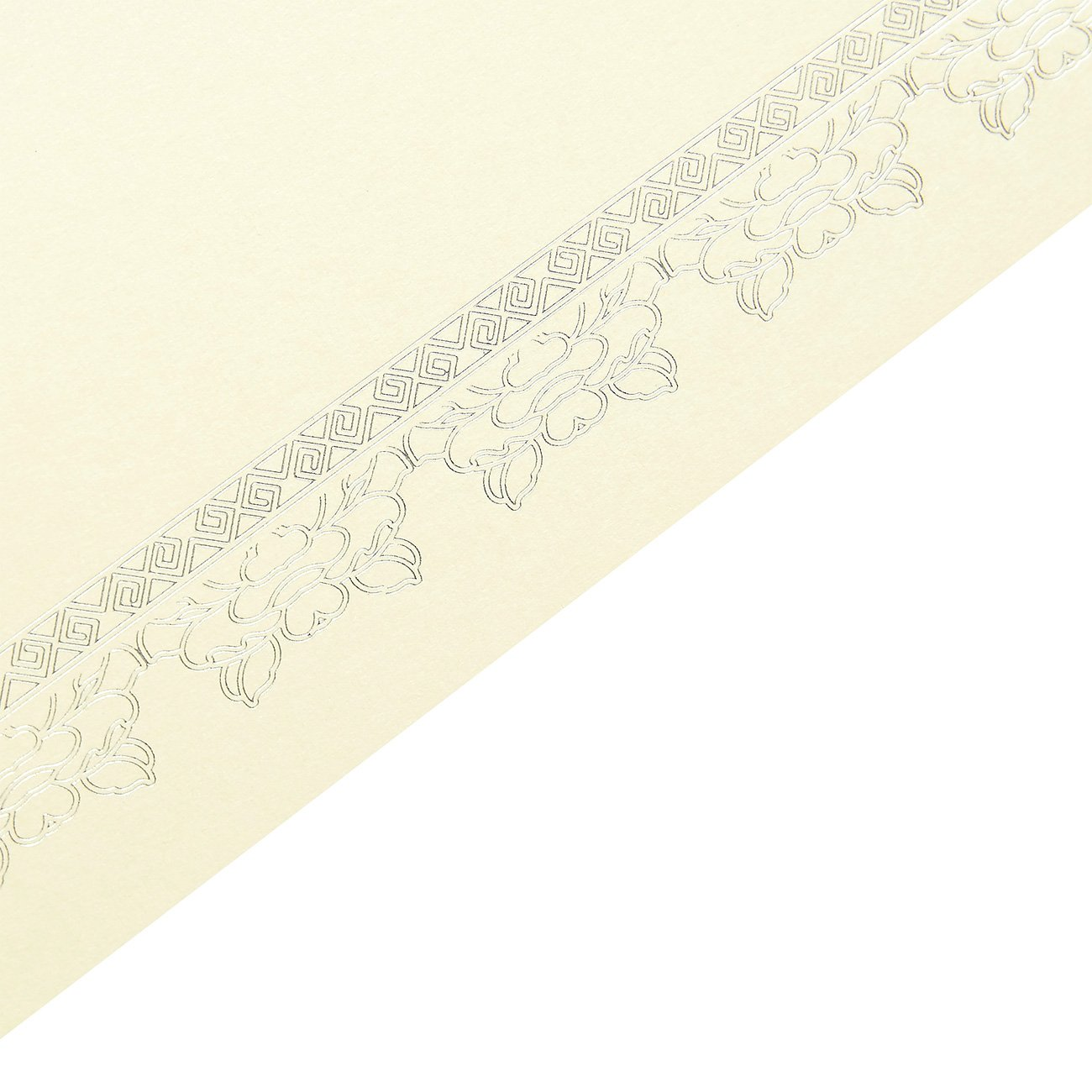 Gold Letter Size Blank Silver Foil Border Specialty Award Paper Printer Friendly 8.5 x 11 Inches 48 Pack Certificate Paper