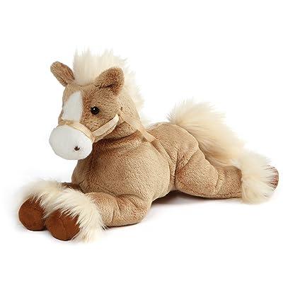 """GUND Fanning Palomino Horse Laying Down Stuffed Animal Plush, Tan, 12"""": Toys & Games"""