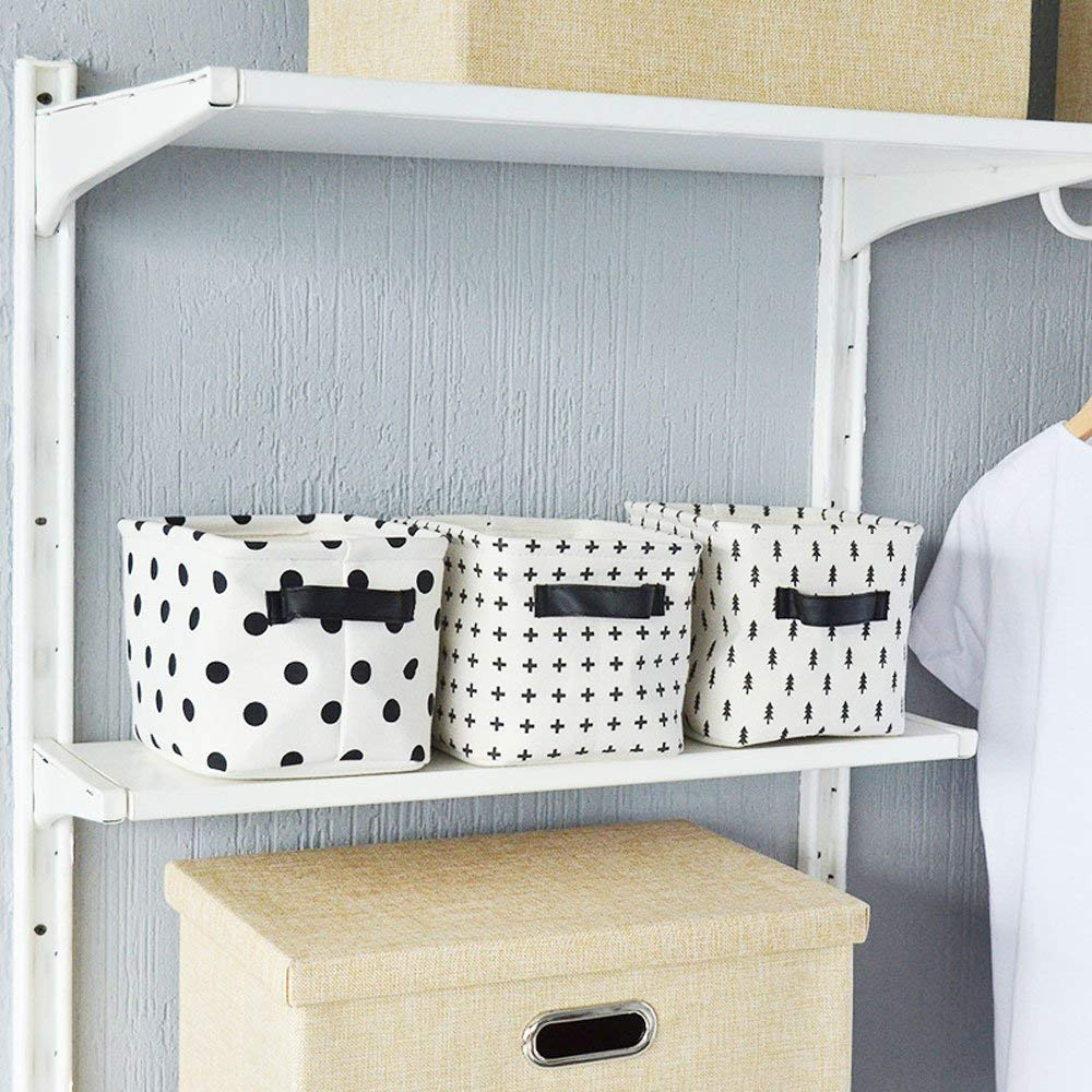 4 unidades 20,5/x 17/x 15/cm tama/ño peque/ño Ailina Juego de organizadores para ropa de beb/é cesta de almacenamiento de tela con 2 asas a ambos lados