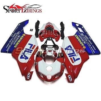 sportfairings rojo azul Inyección ABS plástico completo Kits de carenado para Ducati 749 999 Monoposto 2005 2006 motocicleta embellecedores: Amazon.es: ...