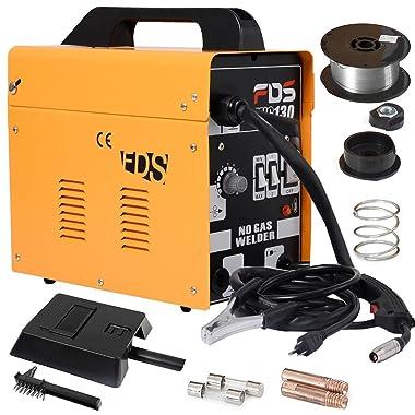 Goplus MIG 130 Welder Flux Core Wire Automatic Feed Welding Machine w/ Free Mask