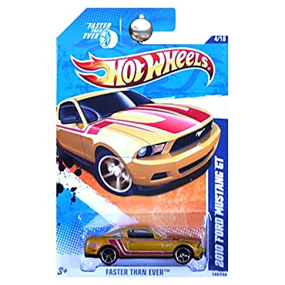 Hot Wheels 2011 Faster Than Ever Gold 2010 Ford Mustang GT: Toys & Games [5Bkhe0806551]