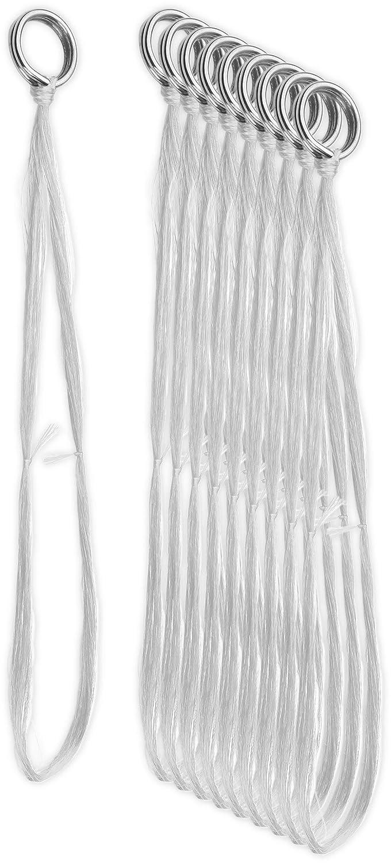 Storfisk fishing /& more 10-30 St/ück Hornhecht Seidenf/äden mit Springring zur Montage an Blinkern zuverl/ässiges Hilfsmittel zum Angeln auf Hornhechte