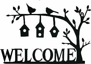 "Gardman 8447 Welcome Birdhouses Wall Art, 10.25"" Long x 11"" Wide"