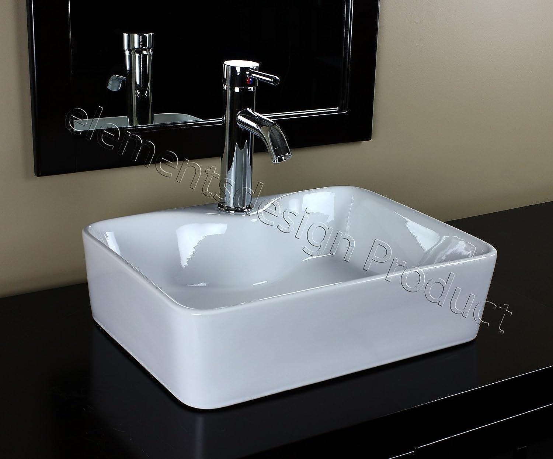 Bathroom Ceramic Porcelain Vessel Sink 7291C5 Chrome Drain
