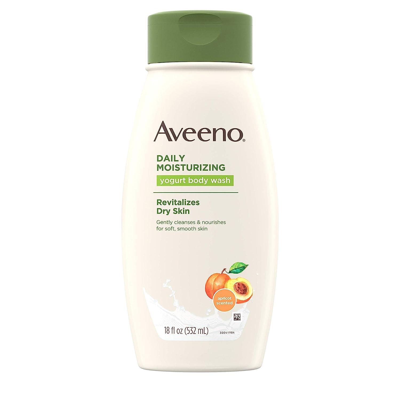 Aveeno Active Naturals Daily Moisturizing Body Yogurt Body Wash, Apricot and Honey, 18oz, 18 Fluid Ounce