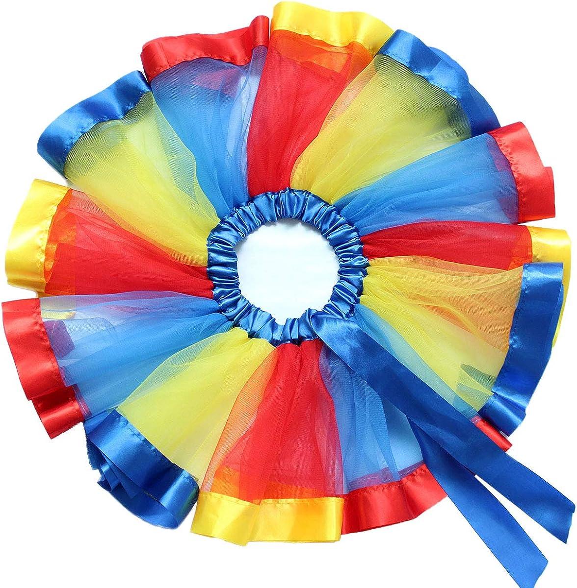 Fascia Compleanno 3 Pezzi Abiti Ragazza Carnevale Costumi Fiore Principessa Estate Vestiti Set 2-5 Anni IMEKIS Bambina Unicorno Vestito Manica Corta Stampa T-Shirt Top Arcobaleno Tutu Gonna
