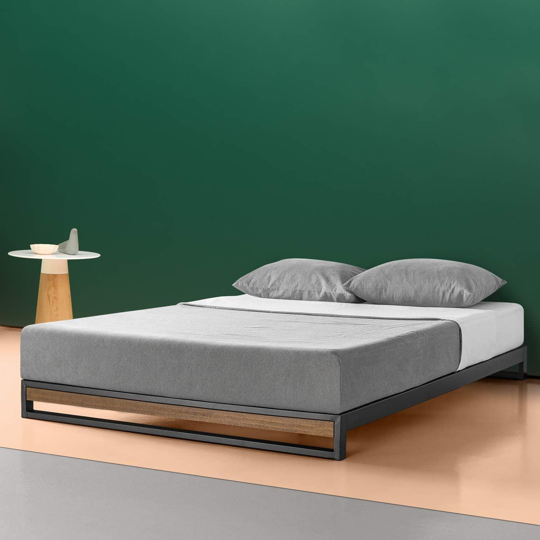 Zinus Cama de plataforma sin cabecero Suzanne de 15,2 cm, Base para colchón, Sin necesidad de usar un somier, Sólido soporte de listones de madera, ...