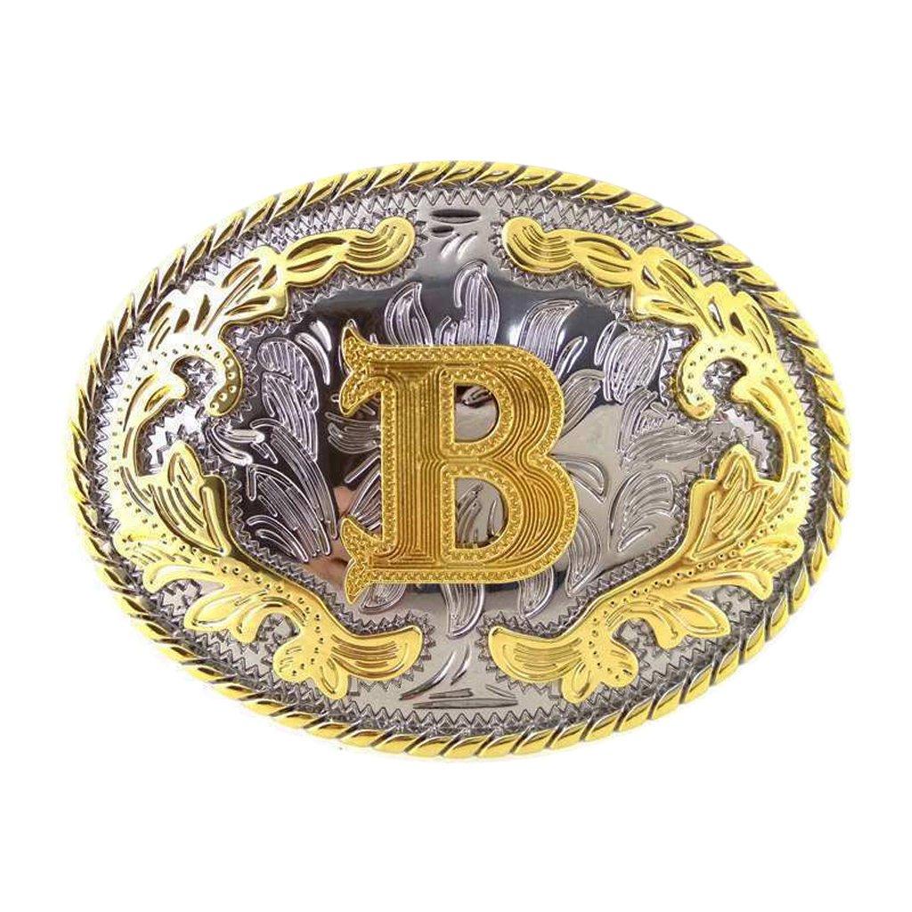 MagiDeal Occidentale Rodeo Lettera Iniziale B Fibbie per Cinture da Cowboy