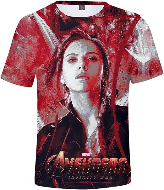 HUASON Bambini E Ragazzi T-Shirt Avengers Endgame Super Hero Comico Cosplay Short Sleeve