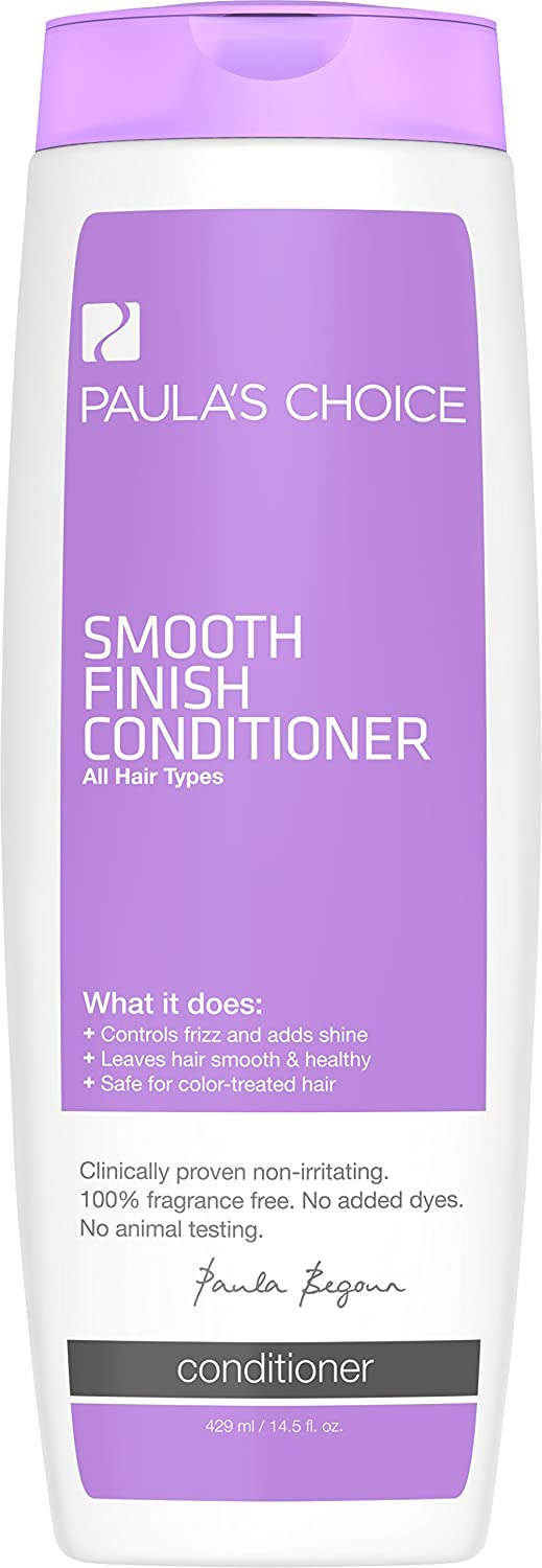 Paula's Choice Smooth Finish Conditioner, Fragrance Free, Safe for Color Treated Hair, 14.5 Ounce