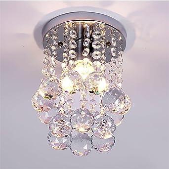 Mini Modern Crystal Chandeliers Flush Mount Rain Drop Pendant Ceiling Light For Girls Room Bedroom 6 29inch Amazon Ca Home Kitchen