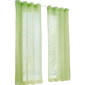 Yujiao Mao Voile Vorhang Osen Gardinen Schal Uni Transparent