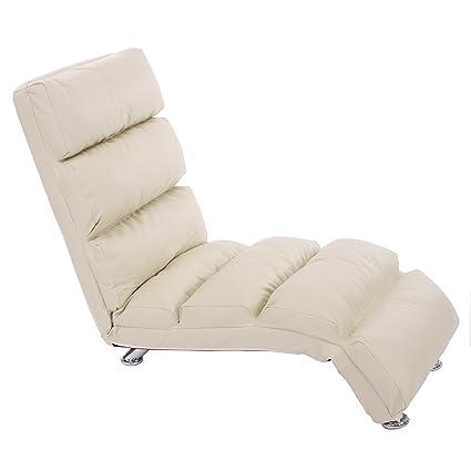 Mendler Relax sillón Mallorca chaise longue piel ~ Crema ...