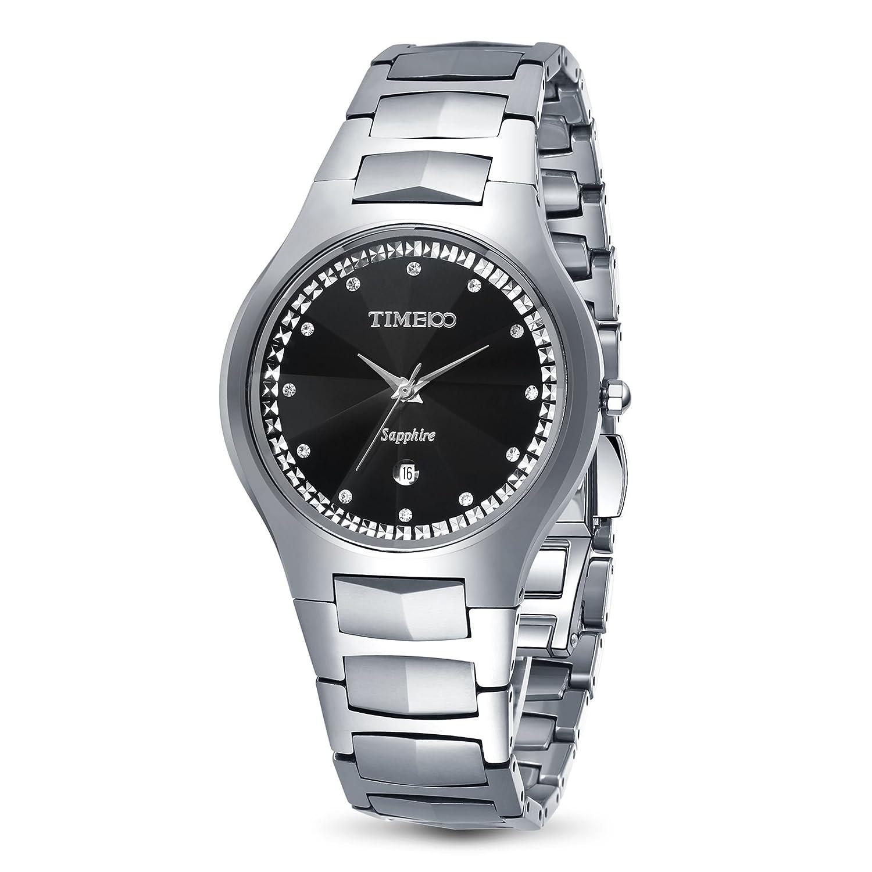 Jungen Time100 Wolfram Damenarmbanduhr Armbanduhr Stahl Saphirglas Analog Quarz Herren 8OP0NkXnw