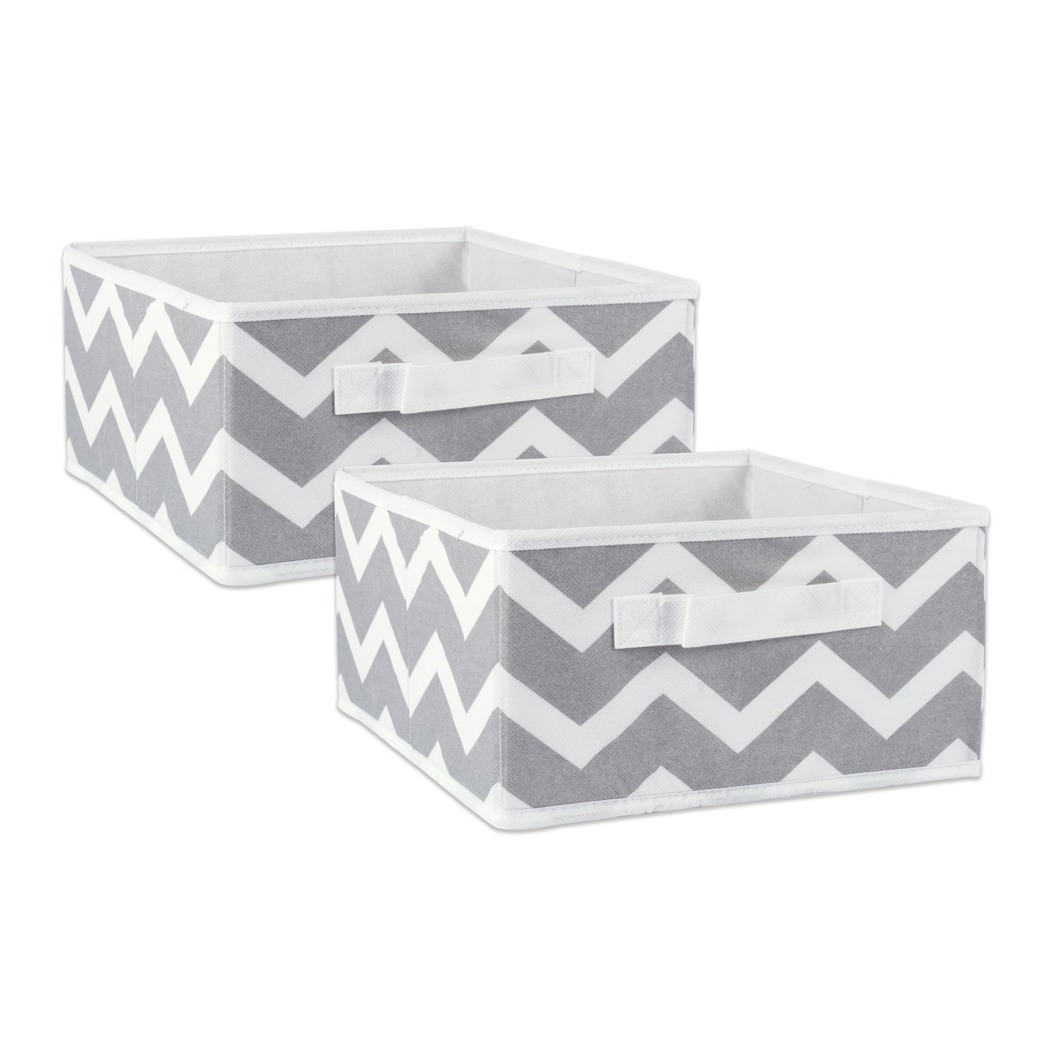 DII Fabric Storage Bins for Nursery, Offices, & Home Organization, Containers Are Made To Fit Standard Cube Organizers (11x5.5x5.5) Chevron Aqua - Set of 2 CAMZ36552